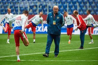 Тренировка сборной России перед матчем с Францией
