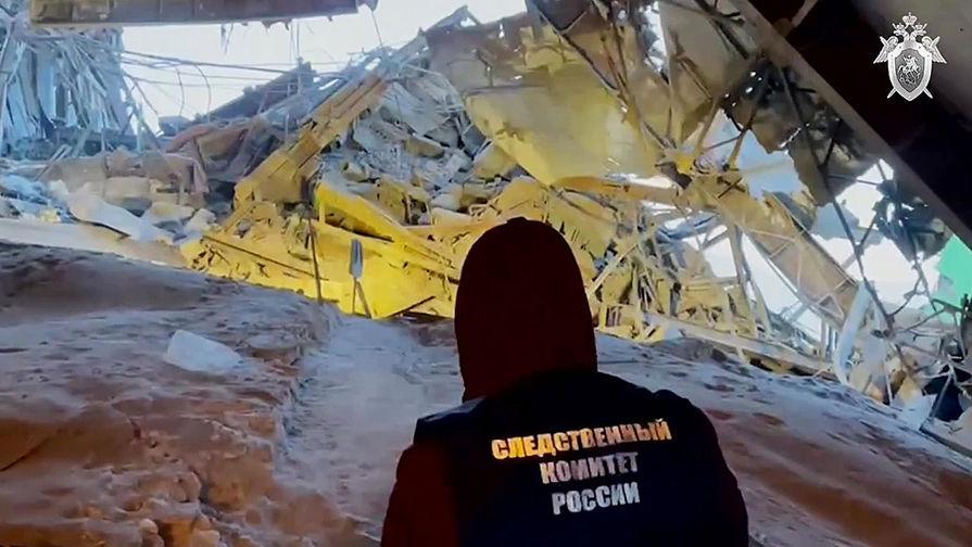 Представитель СК РФ на месте обрушения в цеху на Норильской обогатительной фабрике, 20 февраля 2021 года