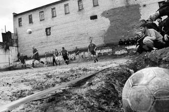 В колонии тоже любят футбол