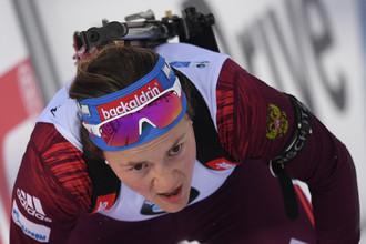 Российская биатлонистка Екатерина Юрлова-Перхт