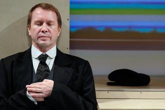 Актер Евгений Миронов в роли Владимира Ленина в спектакле Государственного театра наций, декабрь 2017 года
