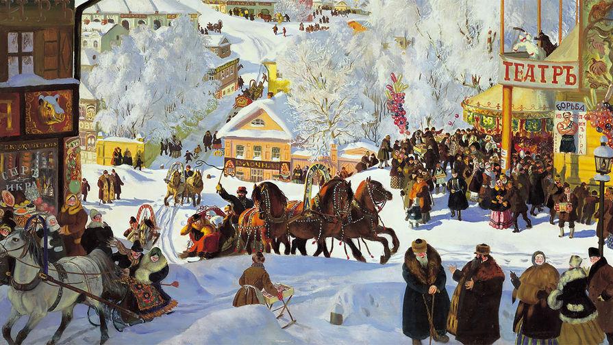 Борис Кустодиев «Масленица», 1919 год