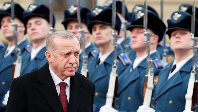 Президент Турции Реджеп Тайип Эрдоган во время визита в Киев, 3 февраля 2020 года