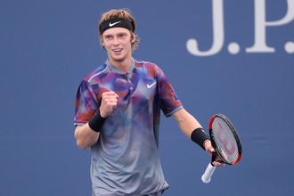 Андрей Рублев вышел в 1/4 финала US Open