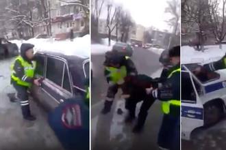 Инспектору прищемили палец: водителю грозит колония