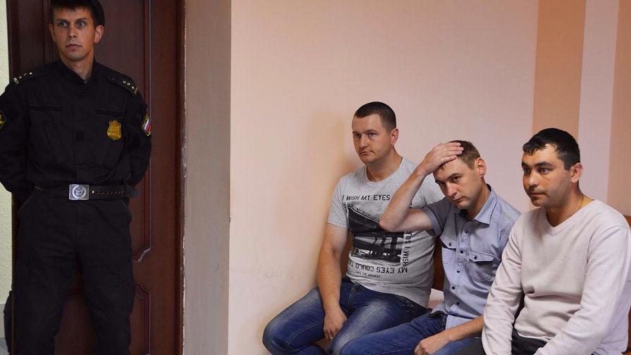 Экс-сотрудники ДПС из Смоленска: Игорь Садотенков, Андрей Федоренков и Алексей Полтавин