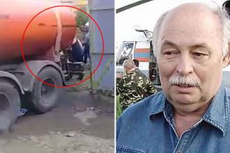 Мэр Нижнеудинского района Иркутской области Сергей Худоногов (кадр из видео)