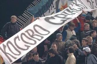 Сербские фанаты не смирились с отделением Косово