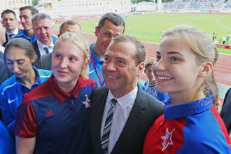 Дмитрий Медведев побывал на церемонии открытия чемпионата России по легкой атлетике в Жуковском