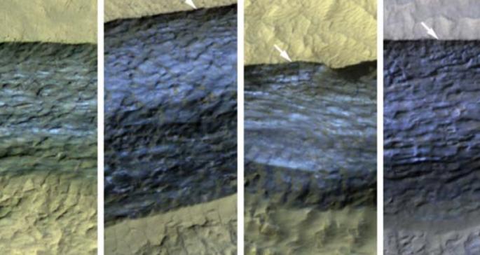 На Марсе найдены открытые залежи льда