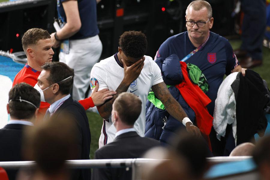 Игрок сборной Англии Маркус Рашфорд после финала Евро-2020
