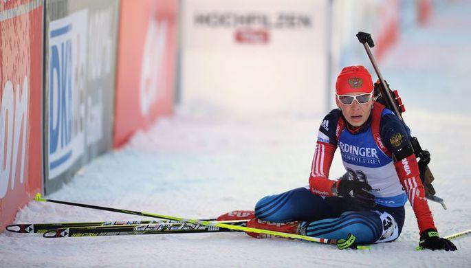 Российская биатлонистка Екатерина Шумилова