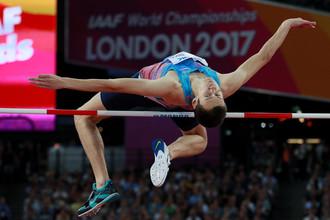 Прыгун в высоту Данил Лысенко