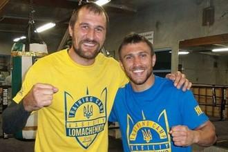 Сергей Ковалев (слева) и Василий Ломаченко