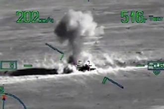 Удары ВКС России по объектам боевиков в сирийской провинции Дейр-Эз-Зор, август 2017 года