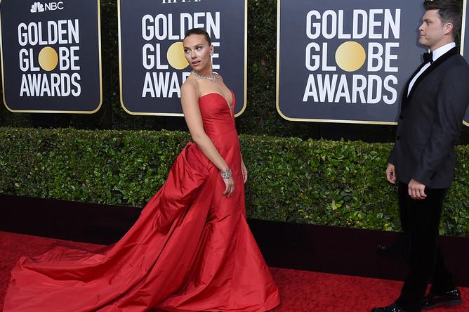 Скарлетт Йоханссон на 77-й церемонии вручения американской кинопремии «Золотой глобус» в Лос-Анджелесе, 6 января 2020 года