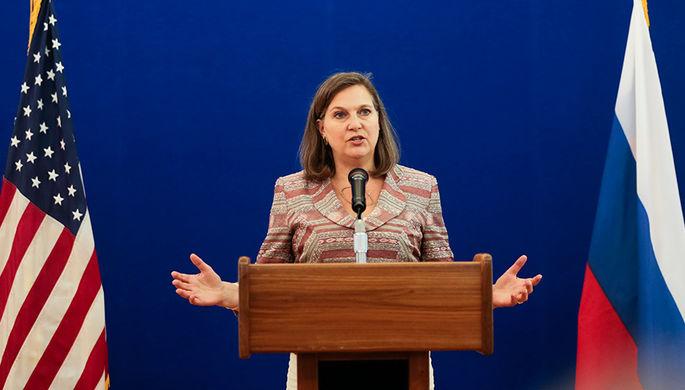 Виктория Нуланд на пресс-конференции в Спасо-Хаусе, 2015 год