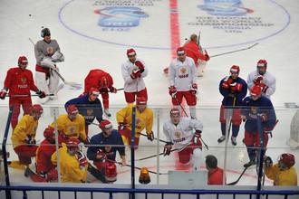 Молодежная сборная России на утренней раскатке