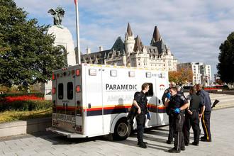 На месте стрельбы у здания парламента Канады в городе Оттава