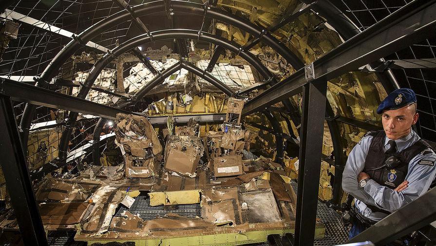 Кабина Boeing 777, потерпевшего крушение навостоке Украины