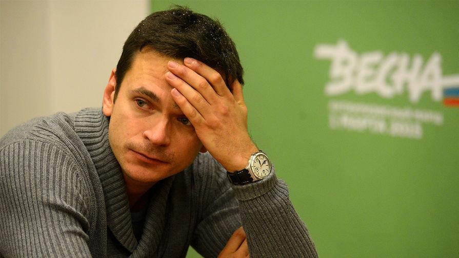 Оппозиционер Илья Яшин в офисе РПР-ПАРНАС на Пятницкой улице