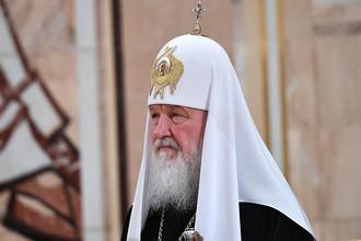 Патриарх Московский и всея Руси Кирилл на заседании Архиерейского собора Русской православной церкви в храме Христа Спасителя, 1 декабря 2017 года