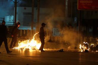 Столкновения полиции с демонстрантами в Тунисе, 10 января 2018 года