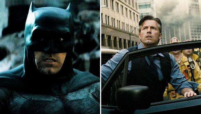 Бен Аффлек в фильме «Бэтмен против Супермена: На заре справедливости» (2016) <br><br>На данный момент последний Бэтмен (пока не вышел фильм с Робертом Паттинсоном) — Бен Аффлек. Двукратный обладатель «Оскара» (как сценарист и режиссер) исполнил роль Уэйна в двух лентах Зака Снайдера, обе из которых получились, мягко говоря, так себе