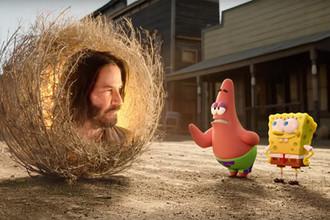 Кадр из анимационного фильма «Губка Боб в бегах» (2020)