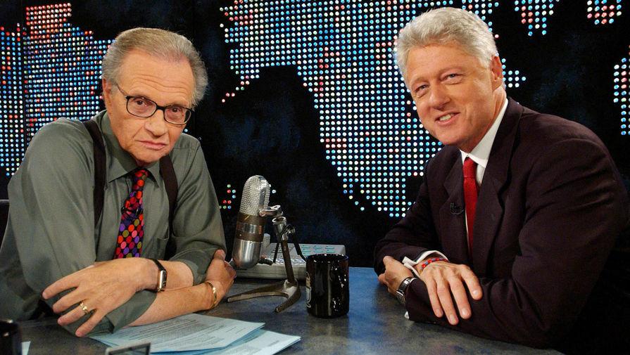 Ларри Кинг и президент США Билл Клинтон, 2002 год