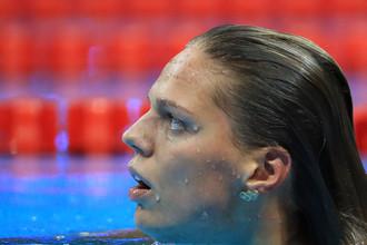 Юлия Ефимова сразу после финиша на 200-метровке