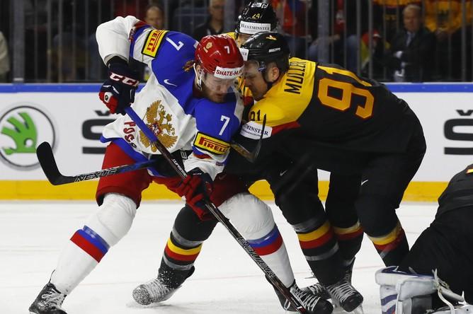 Хоккейный матч Германия — Россия в рамках чемпионата мира