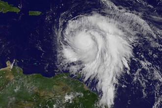 Спутниковый снимок урагана «Мария», 18 сентября 2017 года