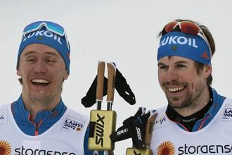 Россияне Сергей Устюгов и Никита Крюков победили в командном спринте на чемпионате мира по лыжным видам спорта в финском Лахти