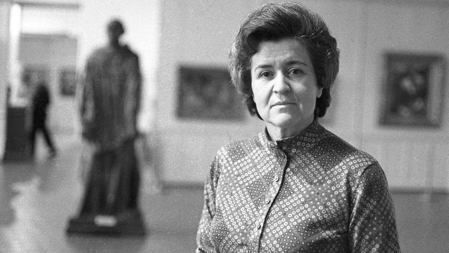 Директор Государственного музея изобразительных искусств им. А.С. Пушкина Ирина Антонова, 1973 год