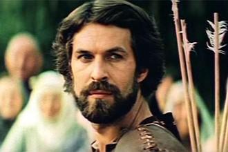 Борис Хмельницкий в кадре из фильма «Стрелы Робин Гуда» (1975)