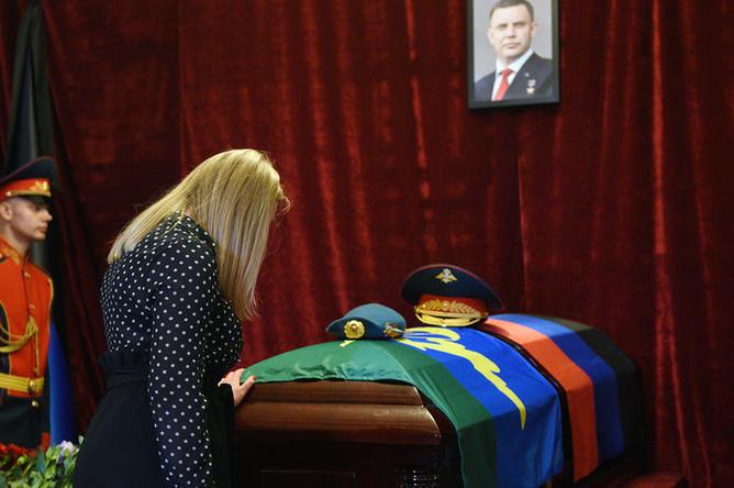 На церемонии прощания с главой ДНР Александром Захарченко в Донецке, 2 сентября 2018 года