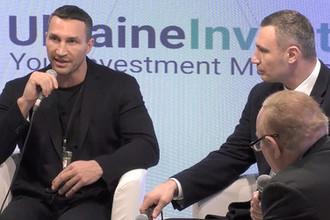Владимир и Виталий Кличко на экономическом форуме в швейцарском Давосе