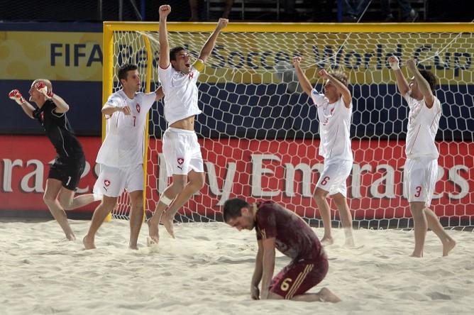 Сборная России по пляжному футболу проиграла Ирану в финале Межконтинентального кубка.