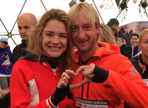 Наталья Водянова и Евгений Плющенко