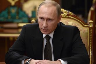 Президент России Владимир Путин на совещании об итогах расследования причин крушения самолета российского самолета Airbus A321 на Синае