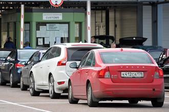 Таможенный пост Торфяновка на российско-финляндской границе