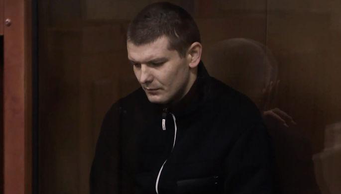 Александр Ефимов в зале суда (кадр из видео)
