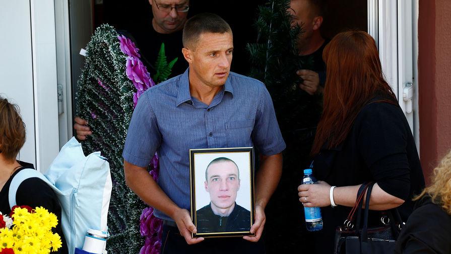 Похороны Александра Тарайковского в Минске, 15 августа 2020 года