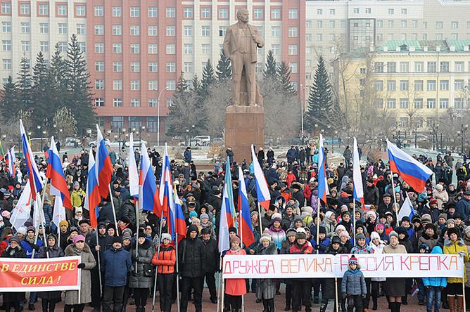 Площадь имени Ленина в Чите