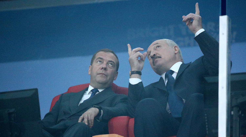 Дмитрий Медведев, Александр Лукашенко нар Европын наадмын нээлт дээр, 2019