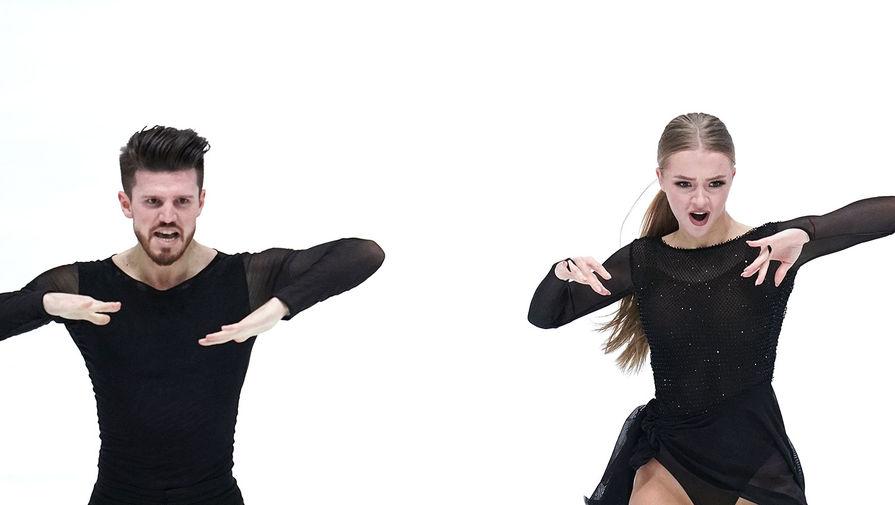 Александра Степанова и Иван Букин в произвольной программе в танцах на льду на чемпионате Европы по фигурному катанию в австрийском Граце