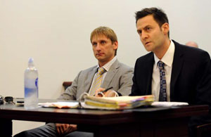 Николай слушает приговор суда