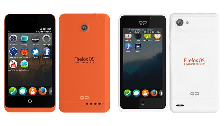 Превью телефонов на Firefox OS, версия для разработчиков