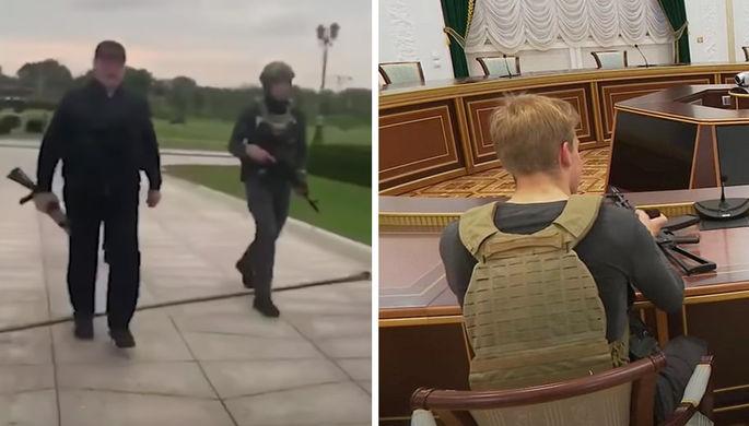 «Очень странно»: оппозицию возмутило оружие у сына Лукашенко